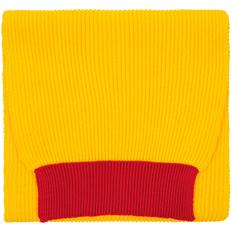 Шарф Teplo Snappy, желтый / красный фото