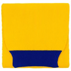 Шарф Teplo Snappy, желтый / синий фото