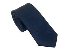 Галстук шелковый Christian Lacroix Element, тёмно-синий фото