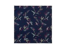 Платок шелковый Cacharel Iris Navy, тёмно-синий фото