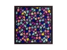 Платок шелковый Ungaro Neon, тёмно-фиолетовый фото