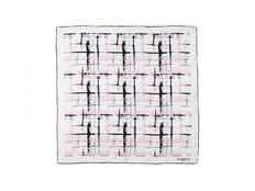 Платок шелковый Ungaro Tweed, светло-розовый фото