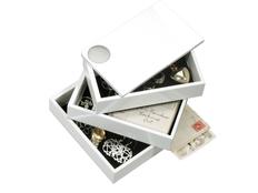 Шкатулка Spindle, белая, белый фото