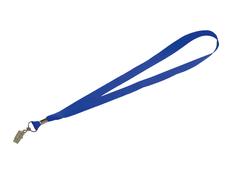 Шнурок с поворотным зажимом Igor, синий фото