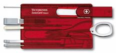Швейцарская карта Victorinox SwissCard Classic, красная подарочная коробка фото