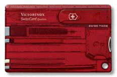 Швейцарская карта Victorinox SwissCard Quattro, красная подарочная коробка фото
