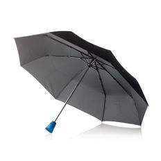 """Зонт складной автомат XD Design Brolly 21,5"""", черный / синий фото"""