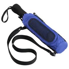 Зонт складной механический Stride Hogg Trek, в чехле с карабином, синий фото