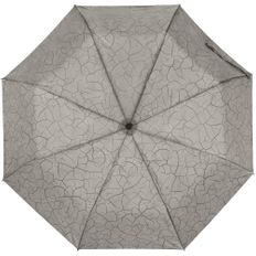 Зонт складной с проявляющимся рисунком полуавтомат Tracery, серый фото