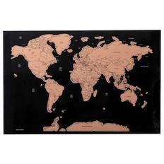 Скретч-карта Palsy, черная / крафт фото