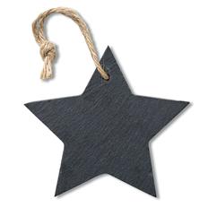 Сланцевая елочная игрушка Slatestar, черный фото