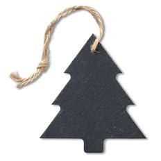 Игрушка елочная Slatetree сланцевая, черная фото