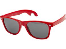 Очки солнцезащитные с функцией открывалки, красный фото