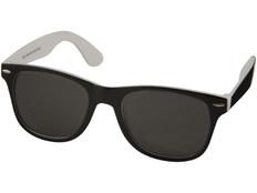 Очки солнцезащитные Sun Ray с цветной вставкой, черный/ белый фото