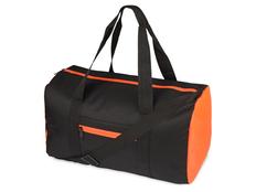 Спортивная сумка Master, чёрно-оранжевая фото