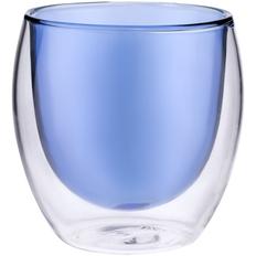 Стакан с двойными стенками Glass Bubble, синий фото