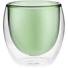 Стакан с двойными стенками Glass Bubble, зеленый фото