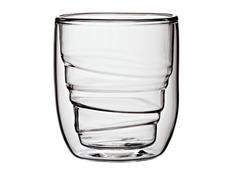 Набор из 2 стаканов Elements Wood, 75 мл, с волнообразными стенками, прозрачный фото