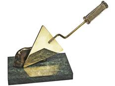 Статуэтка Строительный мастерок, золотой, зеленый фото