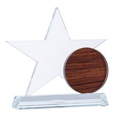 Стела хрустальная Star Trophy, прозрачная / коричневая фото