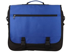 Конференц сумка для документов Anchorage, черный, синий фото
