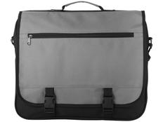 Конференц сумка для документов Anchorage, черный/ серый фото