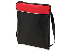 Конференц сумка для документов вертикальная Miami, черный/красный фото