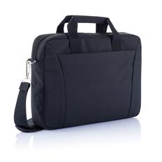 Сумка для ноутбука 15 XD Collection, крепление на выдвижной ручке чемодана, черный фото