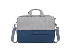 Сумка для ноутбука 15.6'' Rivacase, синяя / серая фото