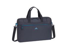 Сумка для ноутбука 15.6'' со съемным плечевым ремнем, черная с синим фото