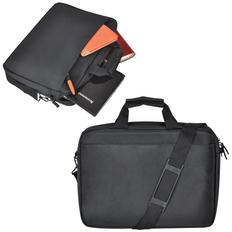 Сумка для ноутбука, регулируемый плечевой ремень, черный фото