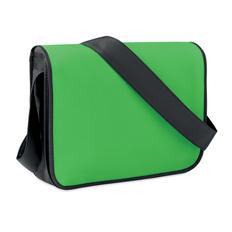 Сумка для ноутбука, нетканый материал, зеленый/черный фото