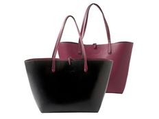 Сумка для шопинга Tourbillon, чёрная/бордовая фото