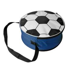 Сумка футбольная, диаметр 36 см, белый/ синий фото