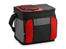 Сумка-холодильник, черный/ красный, серый фото