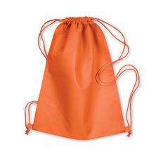 Сумка-мешок, нетканый материал, оранжевый фото