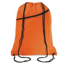Сумка-мешок, с наружным карманом на молнии, оранжевый/черный фото