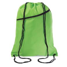 Сумка-мешок, с наружным карманом на молнии, салатовый/черный фото