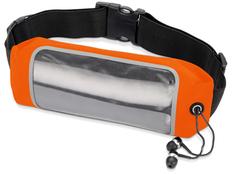 Сумка на пояс Спринт, черный, оранжевый фото