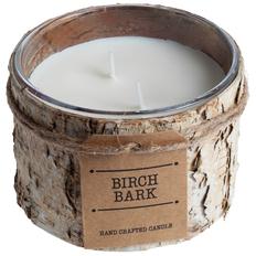 Свеча Birch Bark большая, коричневая фото