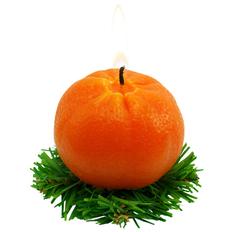 Свеча Мандарин, оранжевая фото