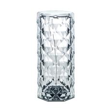 Светильник настольный беспроводной в форме цилиндра, прозрачный фото