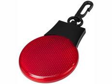 Светоотражатель Blinki, черный/ красный фото