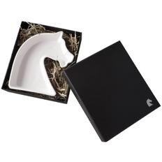 Тарелка Авторский дизайн Знаков Внимания «Ход конем», белая фото