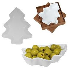 Тарелка для закусок Елочка, белый фото
