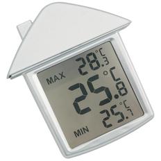 Термометр на присоске Дом, серебристый фото