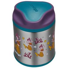 Термос для еды детский Contigo Food Jar Mermaids, бирюзовый / фиолетовый фото