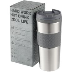 Термостакан вакуумный Hard Work, 420 мл, серебристый фото