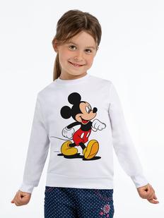 Толстовка детская «Микки Маус. Easygoing», белая фото
