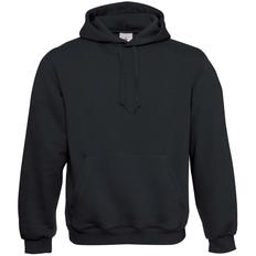 Толстовка B&C Hooded, черная фото